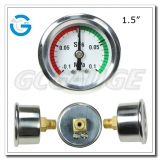 1.5 inch back connection dry SS case brass internal gauges