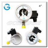 Electric contact pressure gauges 4 inch dial with all stainless steel bottom connection