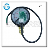 2 black steel lower entry CNG pressure gauges