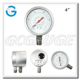 4 Inch all stainless steel bourdon tube differential pressure gages