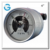 4 All stainless steel back connection electrical contact pressure gauge