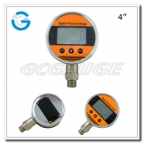 Precision digital pressure gauges 4 inch stainless steel with bottom connection
