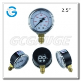 2.5 black steel bottom connection CNG manometer