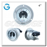 4 All stainless steel back connection panel mount magnitive electric contact pressure gauges