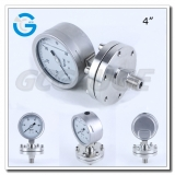 4 Inch diaphragm seal pressure gauges with all stainless steel material