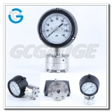 4 Inch polycarbonate case pressure gauges with diaphragm seal