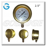 Brass steam pressure gauges with bottom connection bayonet ring type