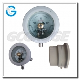 Aluminum body bottom connection explosion proof electric switch pressure gauges