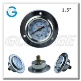 1.5 inch stainless steel 4000psi pressure gauge back entry with flange